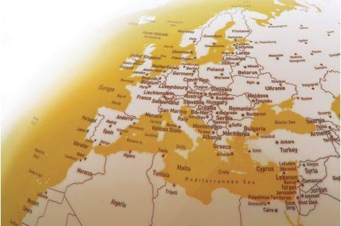 world map globe yellow nightlight table light atmosphere baby bottega detail