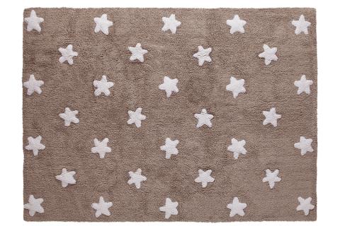White Linen Stars Rug