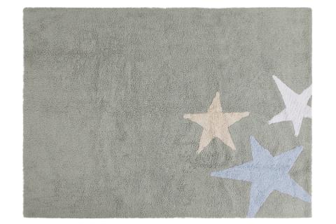 Three Star Rug Grey Blue