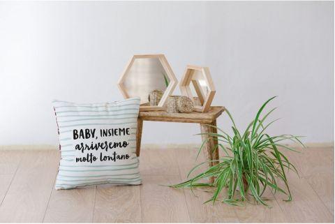 Baby Insieme Arriveremo Lontano Pillow Case