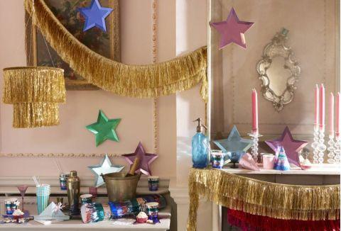 Gold Tinsel Fringe Garland from Meri Meri :: Baby Bottega