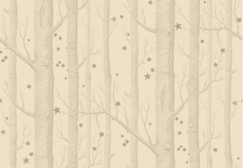 Carta da Parati Woods & Stars Natural/Gold