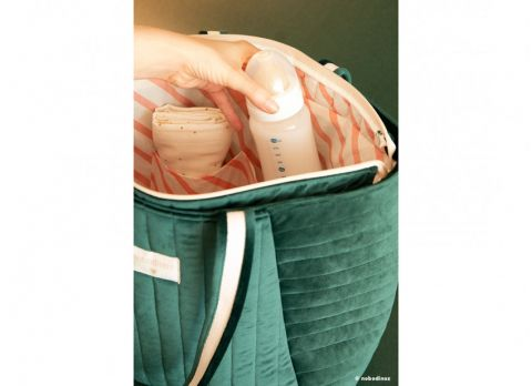 Savanna Velvet Maternity Bag from Nobodinoz :: Baby Bottega