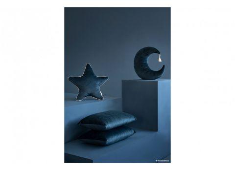 Moon Cushion in deep blue velvet from Nobodinoz :: Baby Bottega