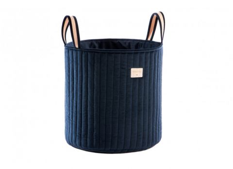 Savanna Velvet Toy Bag in night blue from Nobodinoz :: Baby Bottega