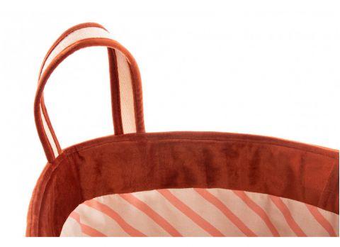Savanna Velvet Toy Bag, wild brown from Nobodinoz :: Baby Bottega