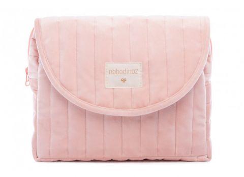 Savanna Velvet Maternity Case in bloom pink from Nobodinoz :: Baby Bottega