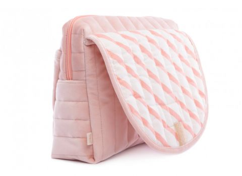 Savanna Velvet Maternity Case in bloom pink from Nobodinoz :: Baby Bottega