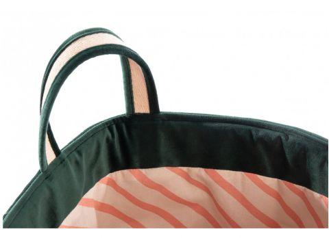 Savanna Velvet Toy Bag, jungle green from Nobodinoz :: Baby Bottega