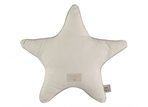 Aristote Star Cushion, natural from Nobodinoz :: Available on Design Bottega