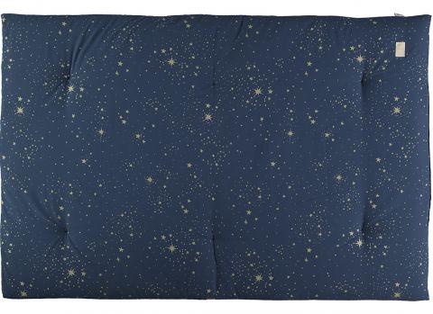 Eden Futon, color Gold Stella blue from Nobodinoz :: Available at Design Bottega