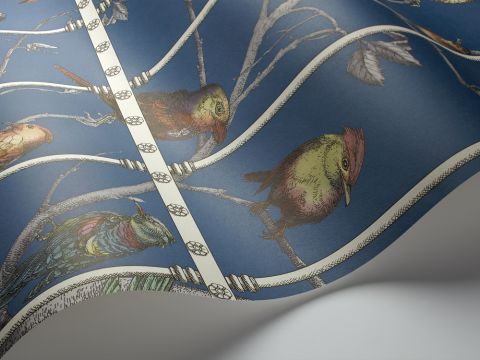 Uccelli (blue), decorative wallcovering :: Cole & Son
