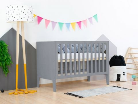 SLEEPY, a Montessori styled cot from Benlemi in grey