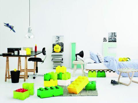 Lego Storage Brick Green Ambiance