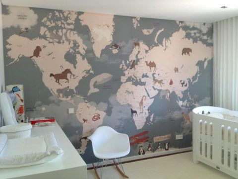 Aviator  World Map Wallpaper Mural