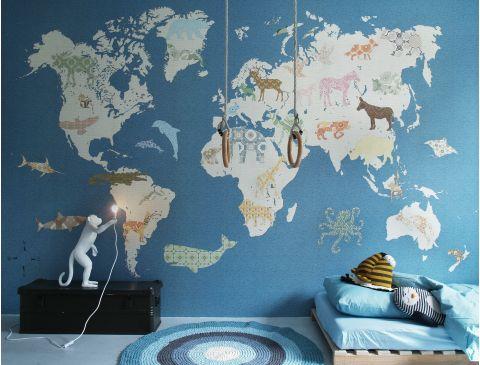 Wallpaper Mural World Map Small
