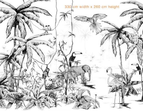 Jungle bianca & nero 330 X 260 cm a Annet Weelink :: Baby Bottega