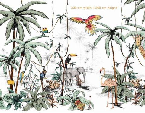 Jungle Color Mural 330 X 260cm da Annet Weelink :: Baby Bottega