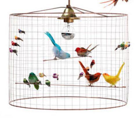 petit voliere birds chandelier baby bottega florence detail