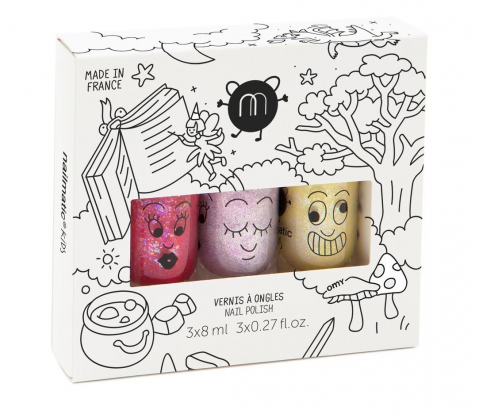 Magic Forest, a 3-pack of nail polish for kids from Nailmatic :: Baby Bottega