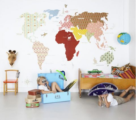 Whole Wide World White Wallpaper Mural