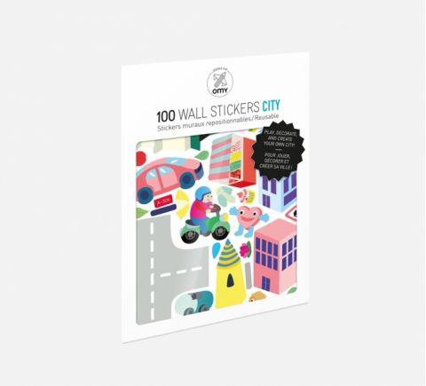 Stickers Riutilizzabili Città
