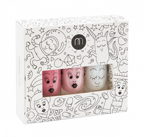 Children 3 Pack Nail Polish Cosmos