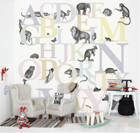 ABC You Multicolour Wallpaper Mural
