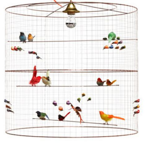 lampadario uccellini grand voliere baby bottega firenze dettaglio