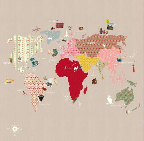Murale Carta da Parati Whole Wide World