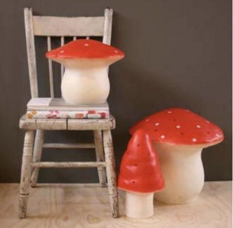 Mushroom Lamp in red, medium by Heico :: Buy online at Baby Bottega