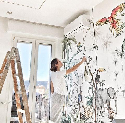 Jungle Color Mural 330 X 260cm from Annet Weelink :: Baby Bottega