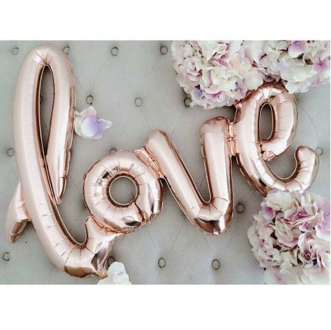 Rose Gold Foil Love Balloon