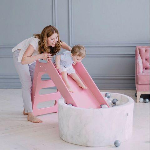Toboggan Slide white from Misioo :: Indoor Playgrounds :: Baby Bottega