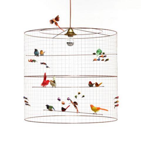 grand volière birds chandelier florence baby bottega