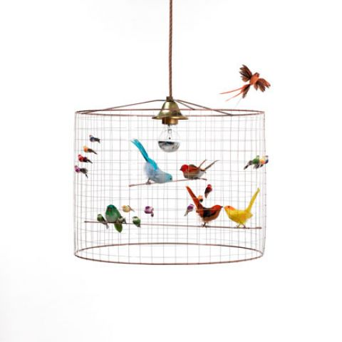 petit voliere birds chandelier baby bottega florence