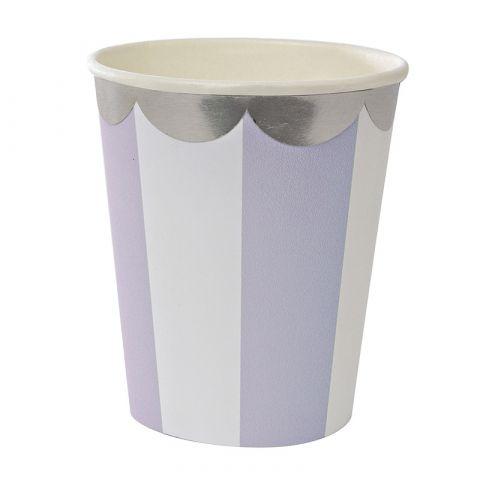 Lavender Striped Cups