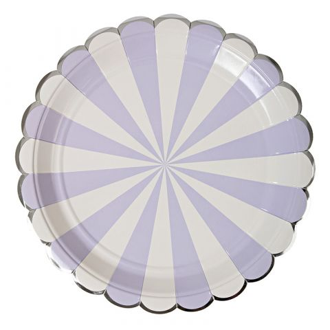 Lavender Striped Large Plates