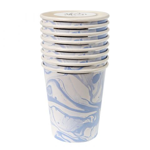 Marble Blue Cups