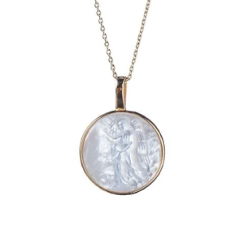 Small Round Guardian Angel Medal