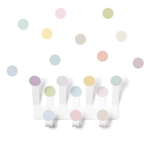 Pastel Dots Hanger & 10 Dot Wall Stickers