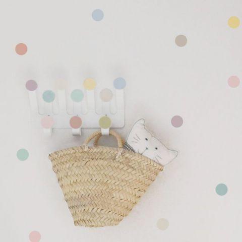 Gancio Attaccapanni & Sticker da Muro A-Pois Pastello