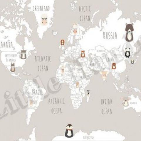 Little munnies world map wallpaper mural gumiabroncs Image collections