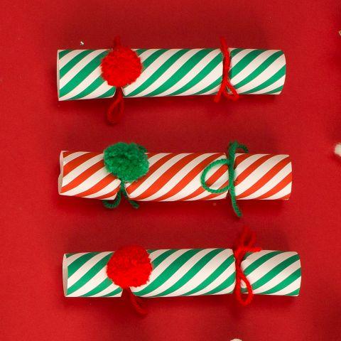 Crackers Natale Pompom