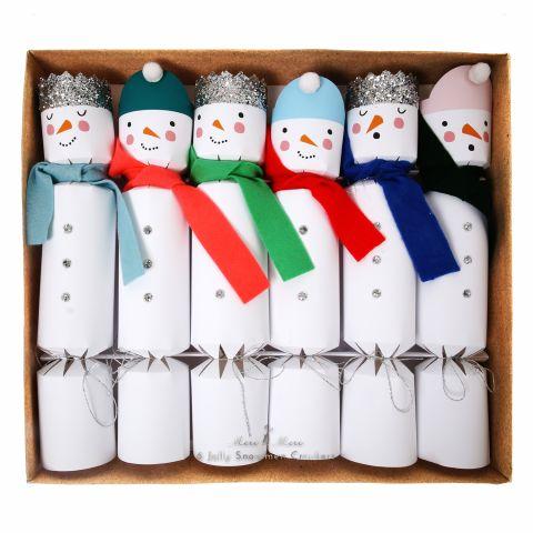 6085_Crackers Natale Pupazzo di Neve