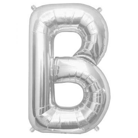 Silver Foil Letter B Balloon