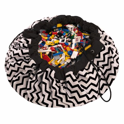ZigZag Black Toy Bag