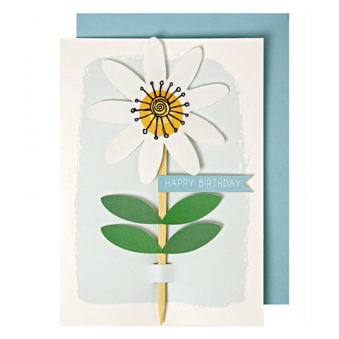 Embroidered Flower Greeting Card