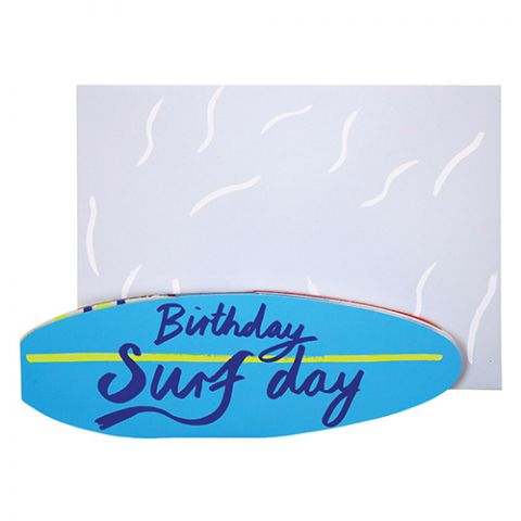 Birthday Surfday Greeting Card