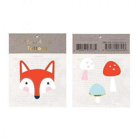 Fox and Mushroom Tattoos